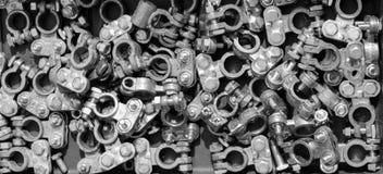 Auswahl von Automobilbatterieanschlussklammern Lizenzfreie Stockbilder