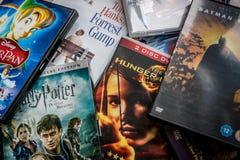 Auswahl von DVDs Stockfotografie