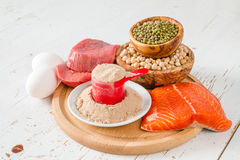 Auswahl von Protein sourses lizenzfreies stockfoto