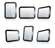 Auswahl von Tablets in den verschiedenen Winkeln Lizenzfreie Stockfotografie