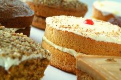 Auswahl von traditionellen Kuchen Lizenzfreies Stockbild