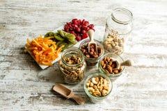 Auswahl von Trockenfrüchten Lizenzfreie Stockbilder
