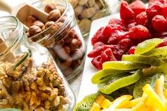 Auswahl von Trockenfrüchten Lizenzfreies Stockbild