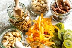 Auswahl von Trockenfrüchten Lizenzfreies Stockfoto