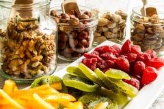Auswahl von Trockenfrüchten Lizenzfreie Stockfotografie