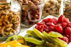 Auswahl von Trockenfrüchten Stockfotografie