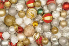 Auswahl von Weihnachtsbällen lizenzfreies stockbild