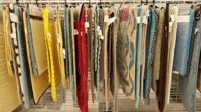 Auswahl von Wolldecken Stockbilder
