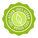 Ausweis 100% des strengen Vegetariers Knopf des strengen Vegetariers Fahne des Vektors Eps10 lizenzfreie abbildung