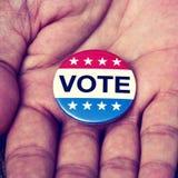 Ausweis für die Wahl Vereinigter Staaten Stockfotografie