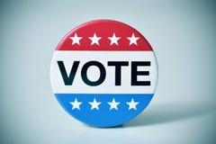 Ausweis für die Wahl Vereinigter Staaten Lizenzfreies Stockbild