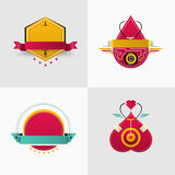 Ausweis- und Logovektordesign für coporate Marke, Flieger, websit Lizenzfreie Stockfotos