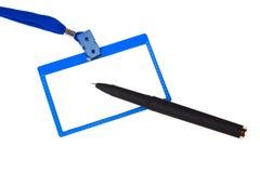 Ausweis und Stift Lizenzfreie Stockbilder