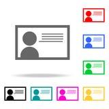 Ausweisikonen Elemente von menschliches Netz farbigen Ikonen Erstklassige Qualitätsgrafikdesignikone Einfache Ikone für Website,  stock abbildung