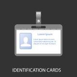 Ausweiskarte mit einem Foto Lizenzfreie Stockbilder