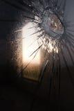 Auswirkung auf das Glas Stockbilder