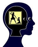 Auswirkung des körperlichen Kindesmissbrauchs stock abbildung