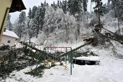 Auswirkungen von starken Schneefällen Lizenzfreie Stockfotos
