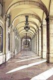 Auszüge von einem Quadrat von Lissabon stockfoto