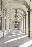 Auszüge von einem Quadrat von Lissabon stockfotos