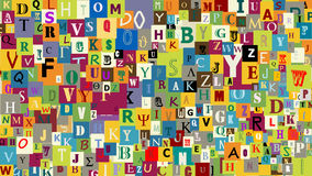 Auszug bezeichnet Hintergrund mit Buchstaben Lizenzfreies Stockfoto