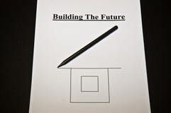 Auszug: Busines Strategie während der Zukunft Stockbild