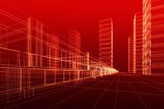 Auszug der Architektur 3D Lizenzfreies Stockbild