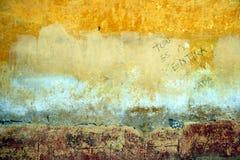 Auszug der gemalten Wand Stockbilder
