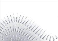 Auszug in der silbernen Auslegung Lizenzfreies Stockfoto