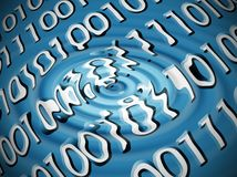 Auszug des binären Codes Lizenzfreie Stockbilder