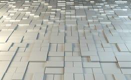 Auszug des Metall 3D stock abbildung