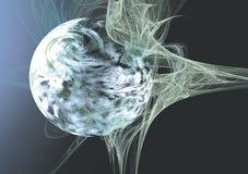 Auszug des Planeten-3D Stockfotos