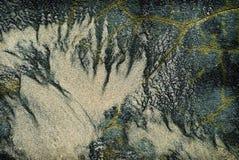 Auszug des Sandes auf Felsen Stockfotos