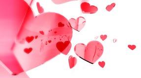 Auszug des Valentinsgrußes Stockfoto