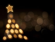 Auszug des Weihnachtenbokeh Baums Lizenzfreie Stockbilder
