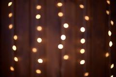 Auszug Dunkler Hintergrund Gelbe Lichter Lizenzfreies Stockbild