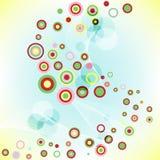 Auszug farbiger Hintergrund mit Kreisen. Lizenzfreie Stockbilder