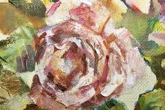 Auszug gemalte Blume Lizenzfreie Stockfotografie