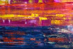 Auszug gemaltes Segeltuch Ölfarben auf einer Palette Lizenzfreie Stockbilder