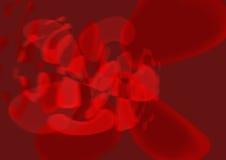 Auszug im Rot Lizenzfreie Stockbilder