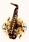 Auszug mit Saxophon lizenzfreie abbildung