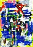Auszug - Rasterfeld und Kunst und Lack und Farbe Stockbild