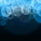Auszug sprudelt blauer Hintergrund lizenzfreie abbildung