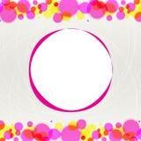 Auszug unscharfe Kreise auf hellem Hintergrund Lizenzfreie Stockfotografie