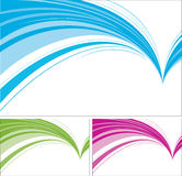 Auszugsauslegungen getrennt auf weißem Hintergrund. Lizenzfreie Stockbilder