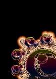 Auszugsschwarzes mit Farben Stockfoto