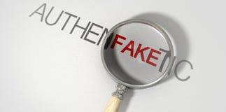 Autêntico falso ampliado Imagens de Stock Royalty Free