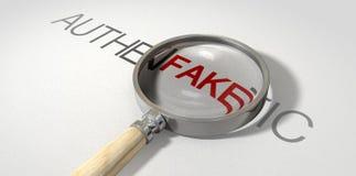Autêntico falso ampliado Imagem de Stock Royalty Free