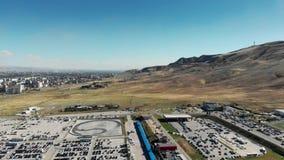 Autódromo no anel internacional do circuito de Rustavi Motorpark filme
