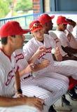 Autógrafos da equipa de beisebol - Camden Riversharks imagem de stock
